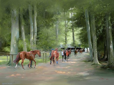 July Course, Newmarket - Canvas