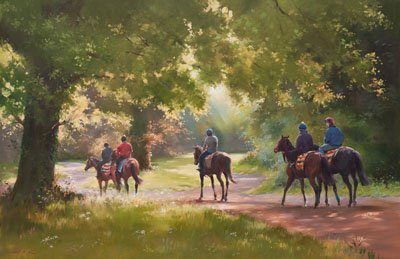 Warren Hill, Newmarket - Canvas