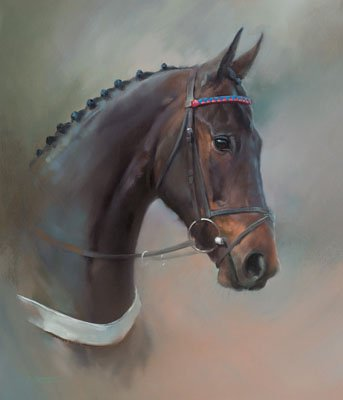 An equine, equestrian, racehorse and horse wall art canvas print of Sprinter Sacre, by Jacqueline Stanhope.