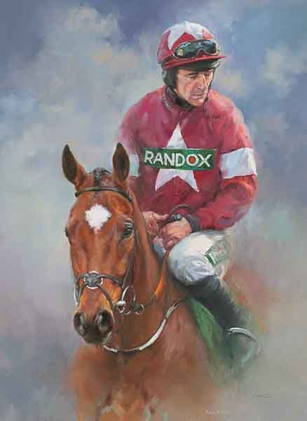 Tiger Roll and Davy Russell - Canvas