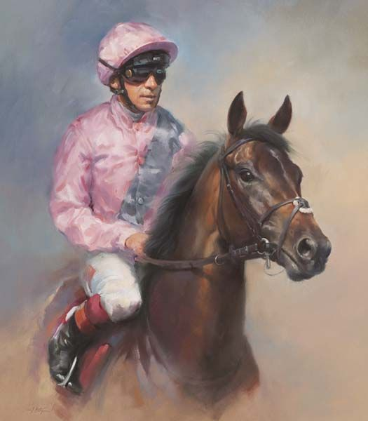 Too Darn Hot and Frankie Dettori - Canvas