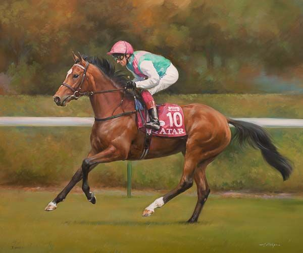 Enable and Frankie Dettori at Longchamp - Canvas
